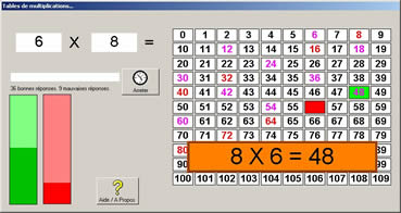 Tables de multiplication jeux educatifs en ligne for Les tables de multiplication en ligne