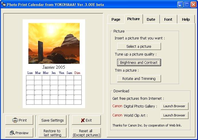 Logiciel gratuit pour faire un calendrier personnalis sous windows - Creer son calendrier ...