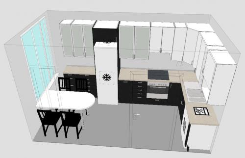 logiciel gratuit de conception de cuisine plan 3d et. Black Bedroom Furniture Sets. Home Design Ideas
